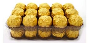 Ferrero Rocher chocolates - photo: Blaz Cure on Shutterstock.com
