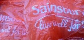 Sainsbury's plastic carrier bags