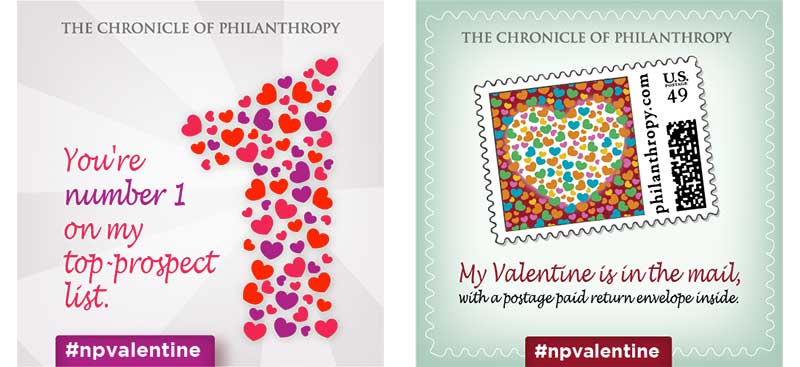 Chronicle of Philanthropy's #npvalentine campaign 2015