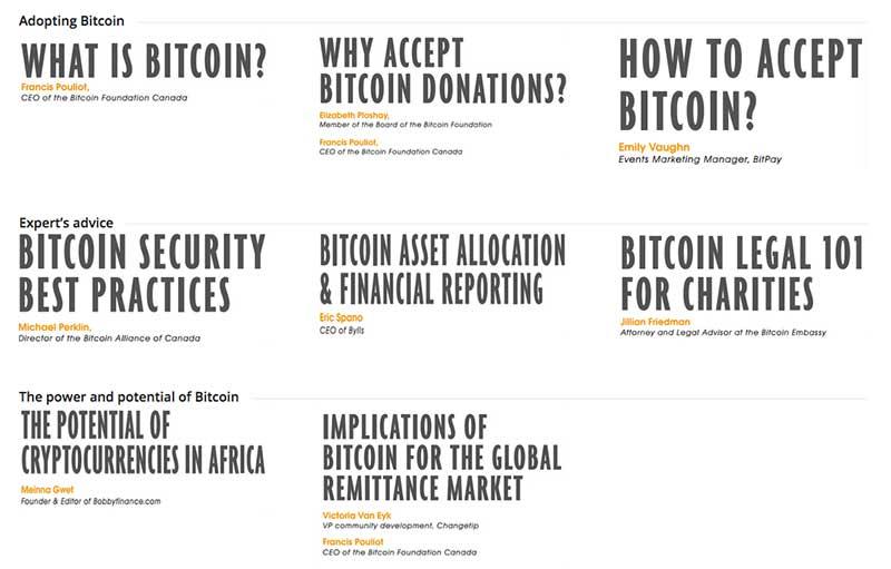 Content in the Bitcoin Nonprofit Handbook