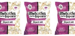 Metcalfe's charity topcorn