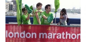Oxfam supporters at Virgin Money London Marathon 2011 - David Burrows on Shutterstock.com