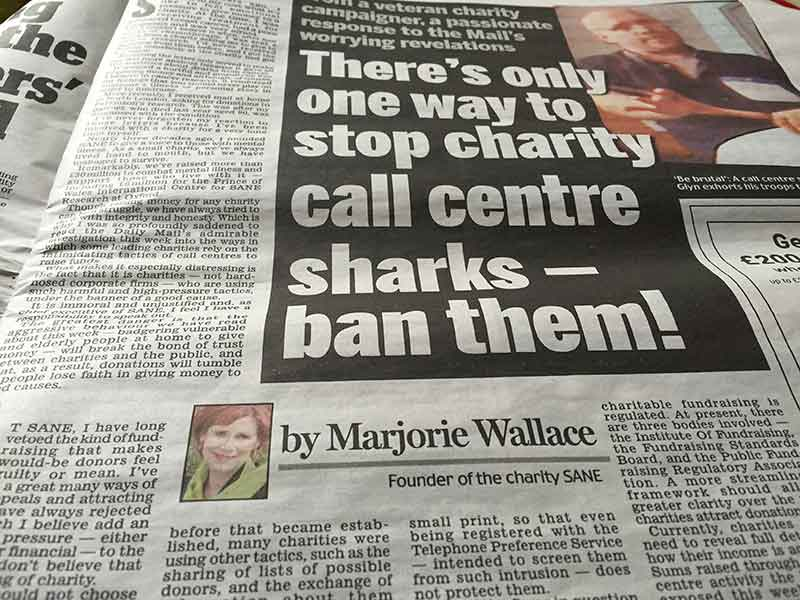 'Ban them' says Marjorie Wallace in Daily Mail article