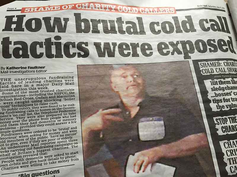 Daily Mail alleges 'brutal cold call tactics'