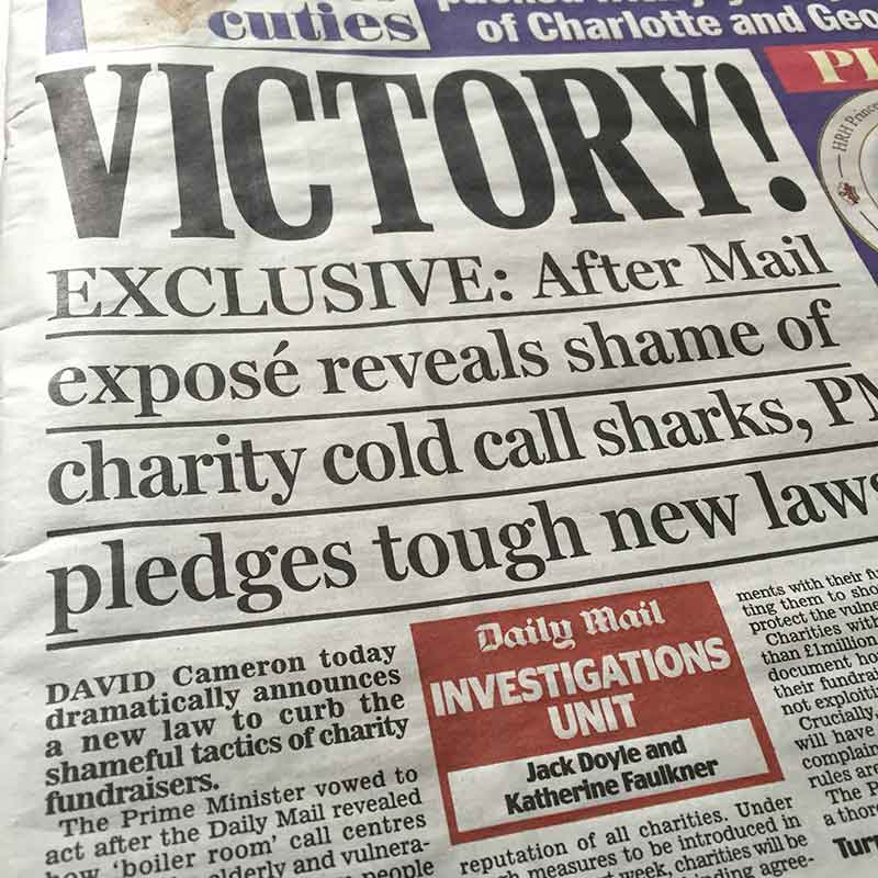 Victory! cries the Daily Mail front page on 11 July 2015