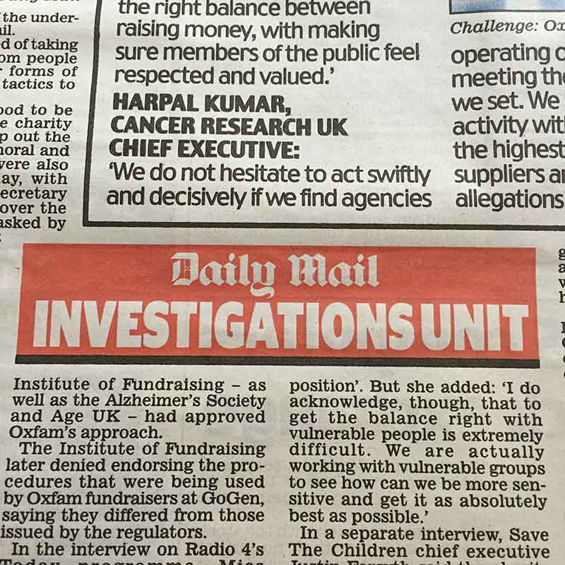 Daily Mail Investigations Unit