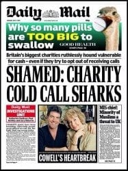 Daily Mail front page 7 July 2015