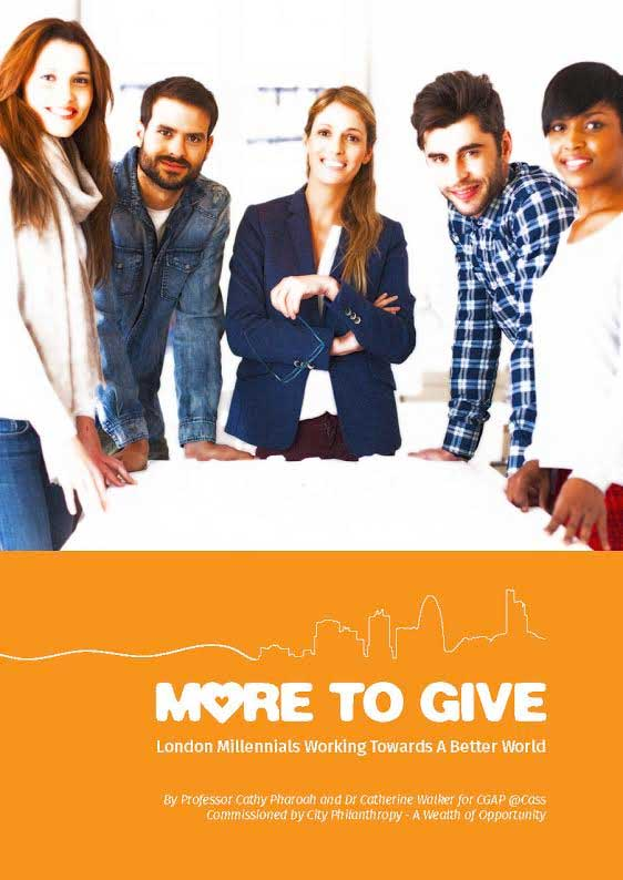 More to Give - London millennials and giving and volunteering for charity (report cover)
