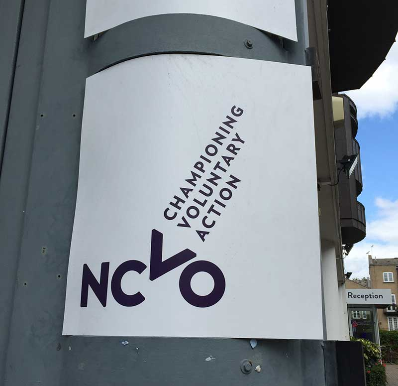 NCVO's office sign, London