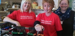 Principality Building Society volunteers in Mind Retail Challenge Day