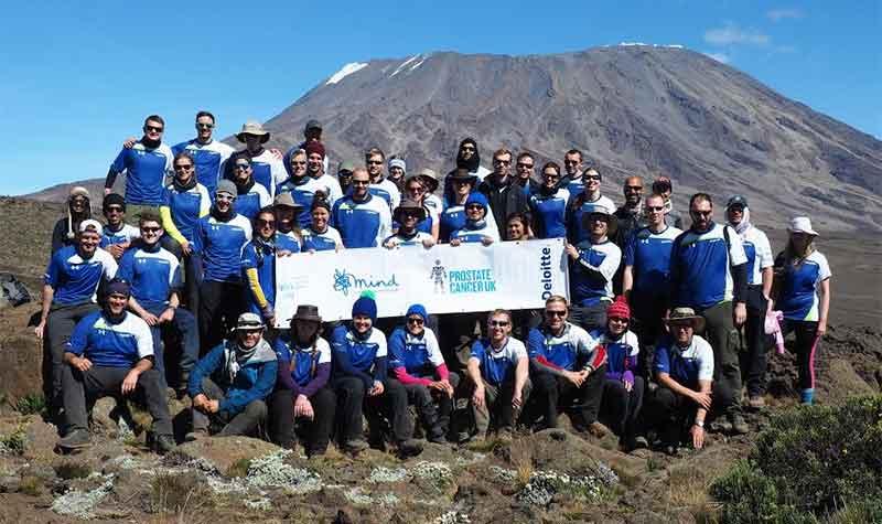 Deloitte staff on Mount Kilimanjaro