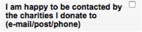 I am happy to be contacted - opt-in statement