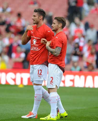 Giroud and Debuchy promote Save the Children's appeal