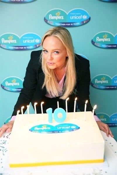 Emma Bunton and 10th anniversary cake