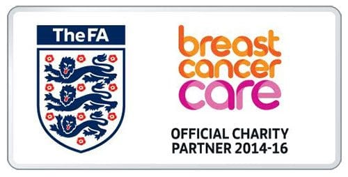 The FA and Breast Cancer Care's logos