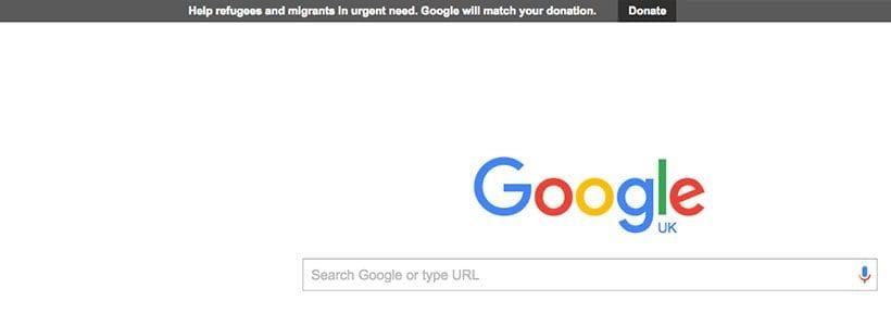 Google matched giving bar September 2015