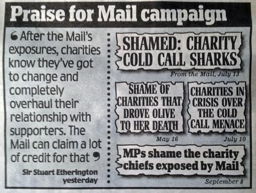 Praise for the Daily Mail's campaign