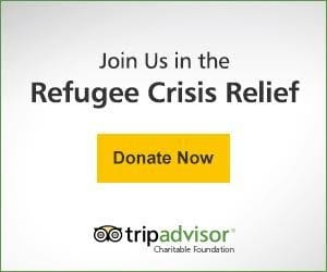 TripAdvisor refugee crisis relief appeal button