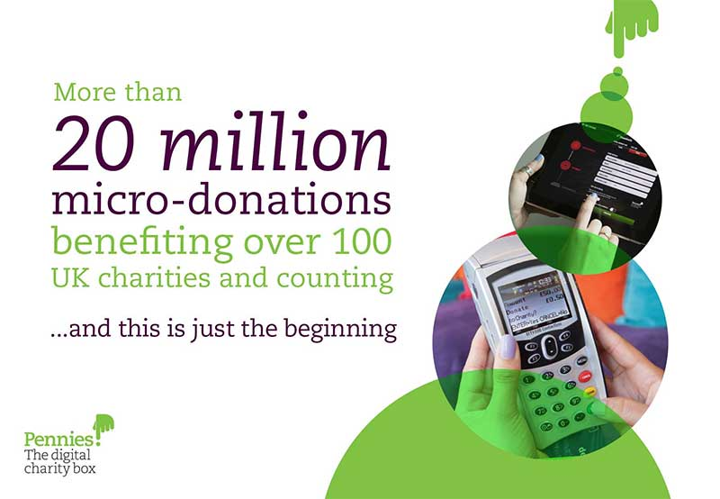 20 million micro-donations to Pennies