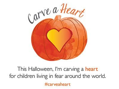 World Vision #carveaheart campaign