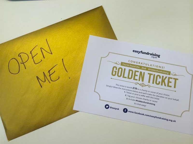 Easyfundraising's golden envelopes