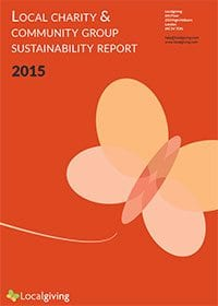 Lccalgiving's Local Charity & Community Group Sustainability Report 2015 - cover
