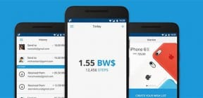 Bitwalking app - screens