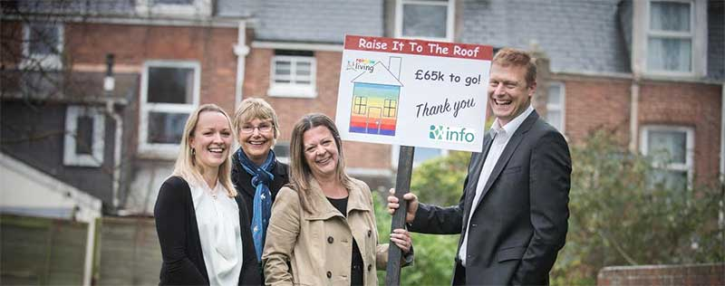 Colin Richman of RX-info pledges a donation to Rainbow Living