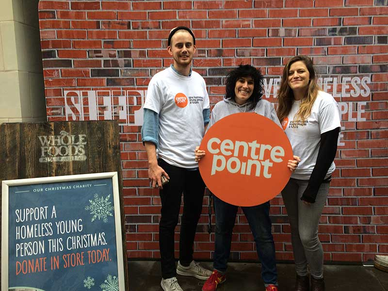 Whole Foods support Centrepoint on Black Friday and up to Christmas