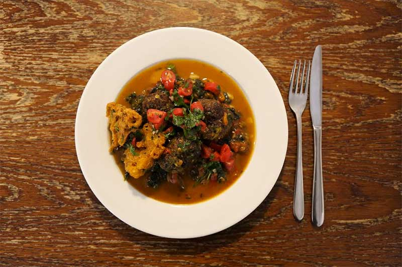 Kevin McFadden's meatballs dish for Farm Africa