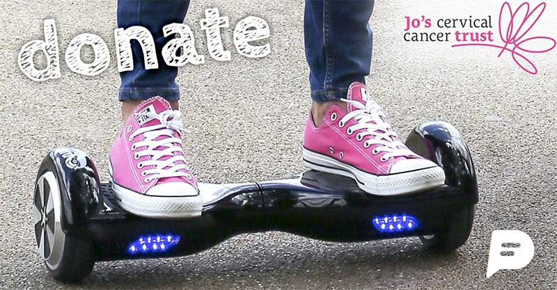 Win a Swegway in Payfriendz' competition to raise funds for Jo's Cancer Trust