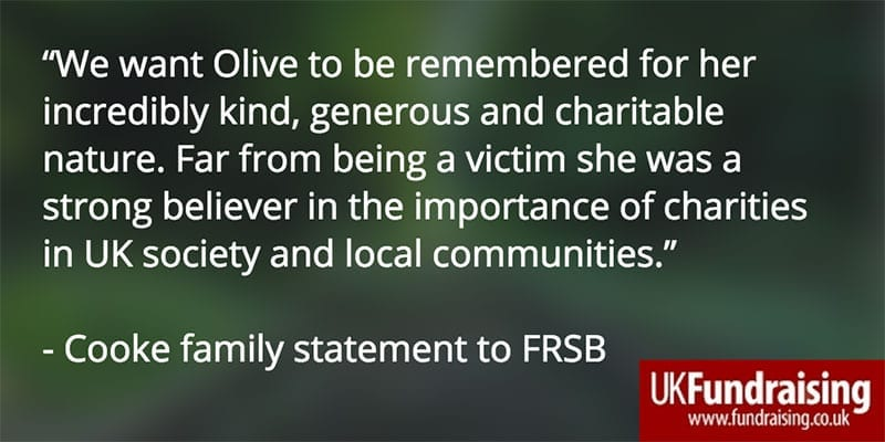 Olive Cooke's family statement to the FRSB