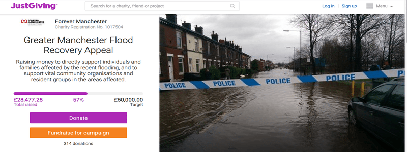 Greater Manchester Flood Recovery Appeal