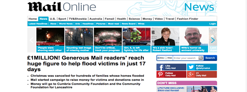 Daily Mail Christmas Flood Appeal